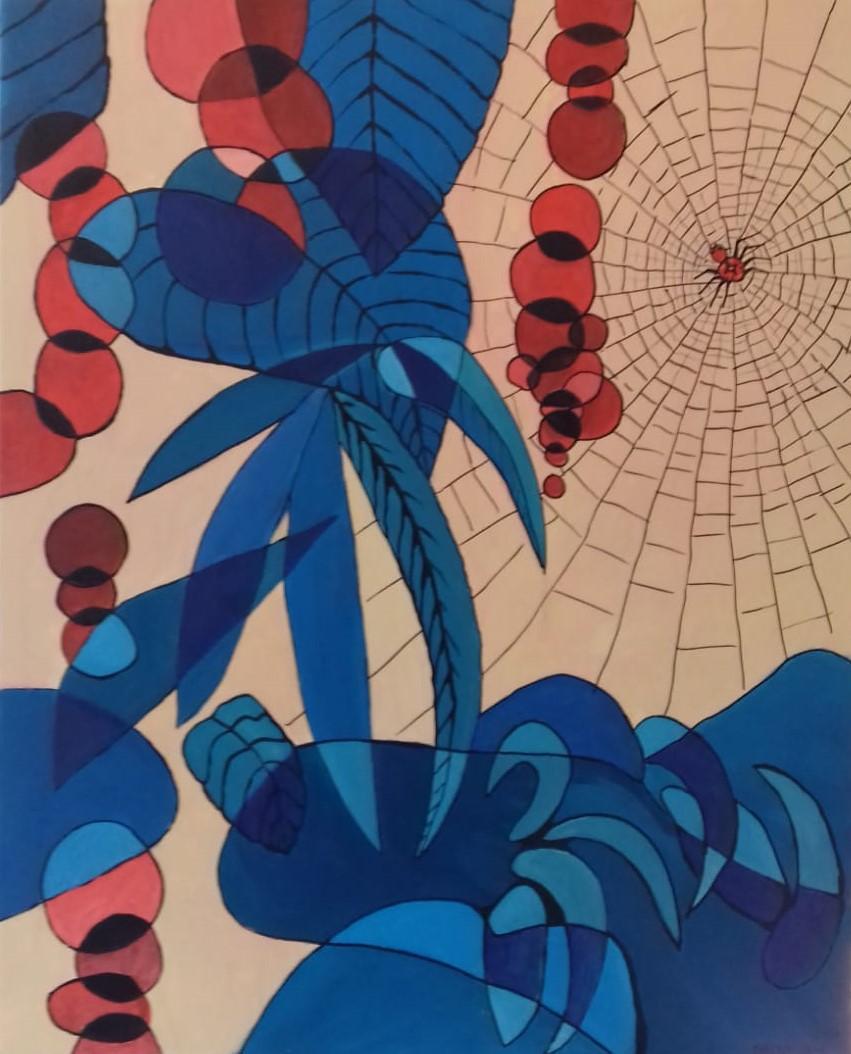 Die Spinne   2020   Acryl auf Leinwand   65 x 80 cm