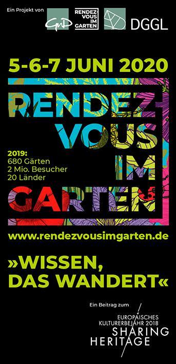 Rendezvous im Garten - Tage der Gärten und Parks 2020