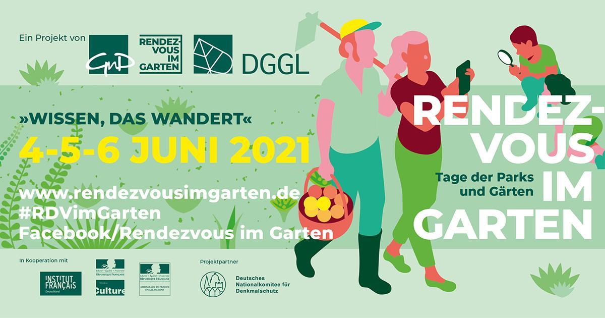"""Banner """"Rendezvous im Garten 2021"""""""