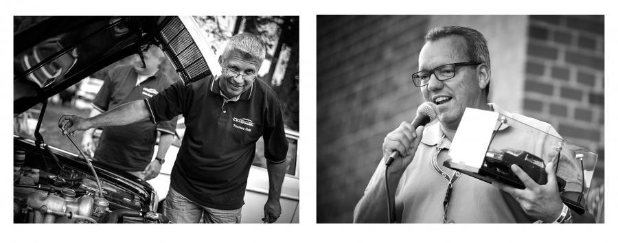 Seit November 2019 die ersten Ehrenmitglieder des MB/8 Club Deutschland e.V.: Clubgründer Thomas Guth (links) und Martin Kämmerling (rechts)