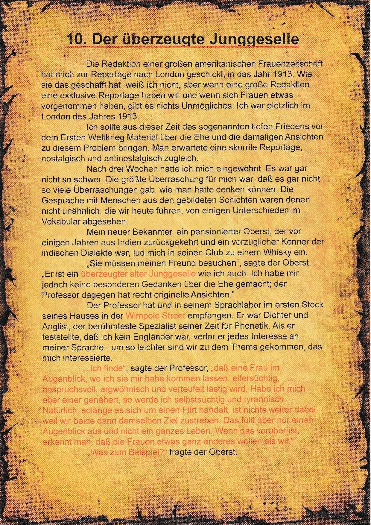 10. Literatur-Rätsel - A