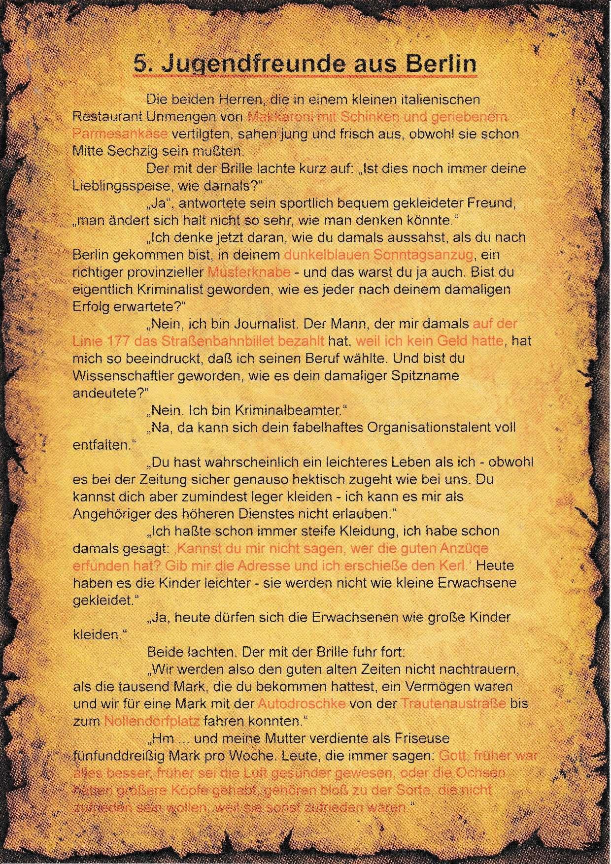 5. Literatur-Rätsel - A