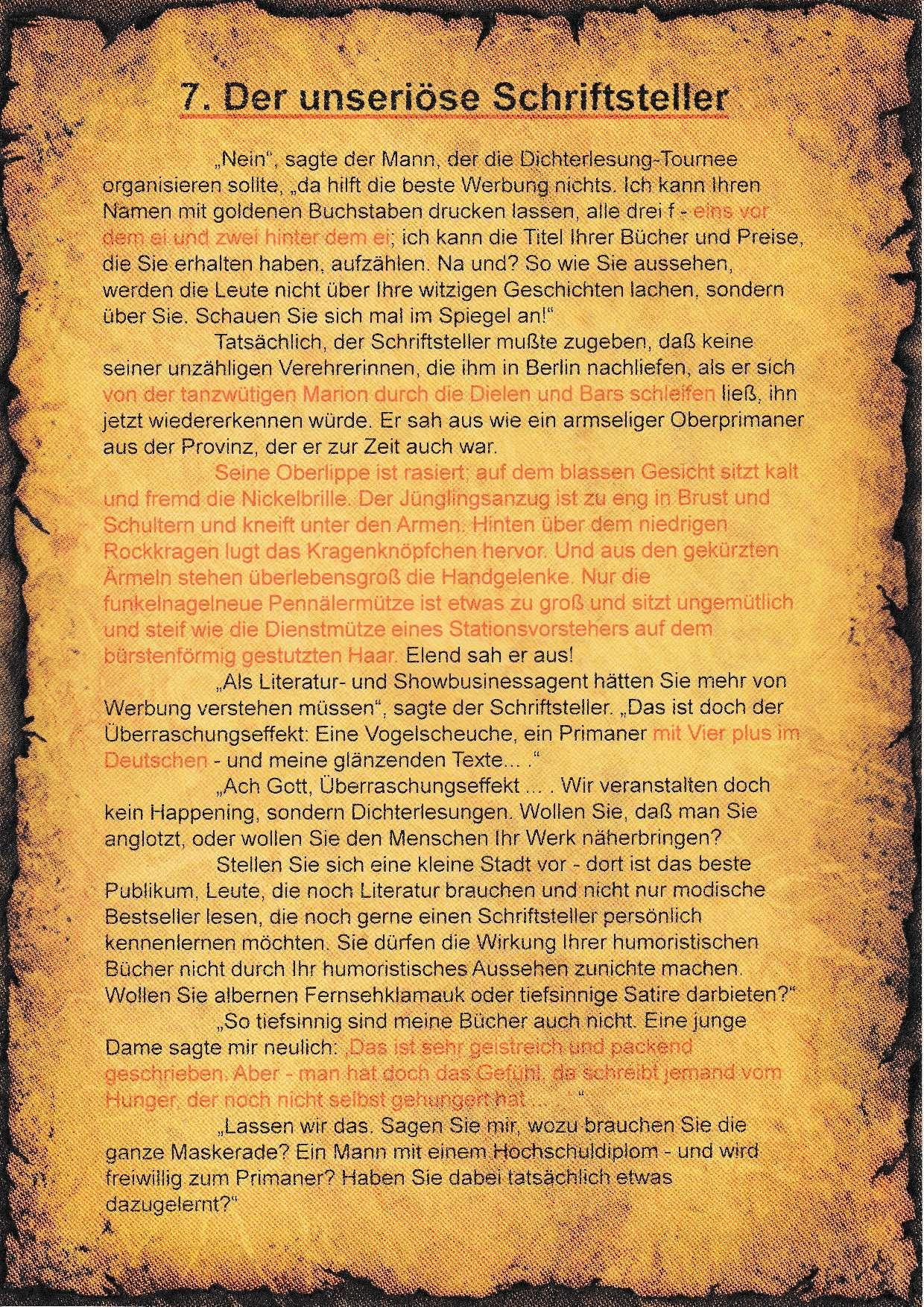 7. Literatur-Rätsel - A