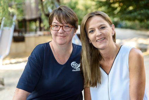 v.l.: Vinja Klag (Gruppenleitung) und Annette Heinrich