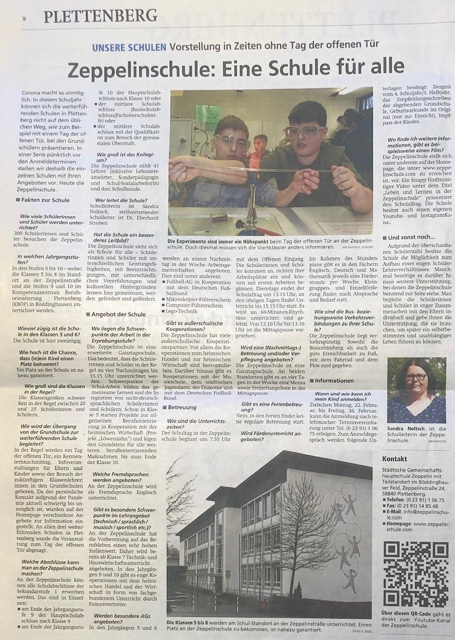 Südländer Tageblatt, 12.02.2021