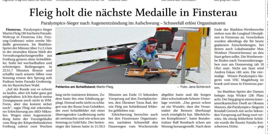 Fleig holt die nächste Medaille in Finsterau