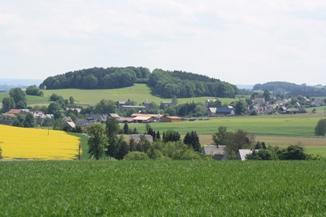 Luftaufnahme des Ortes Marbach