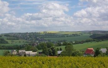 Luftaufnahme des Ortes Schellenberg