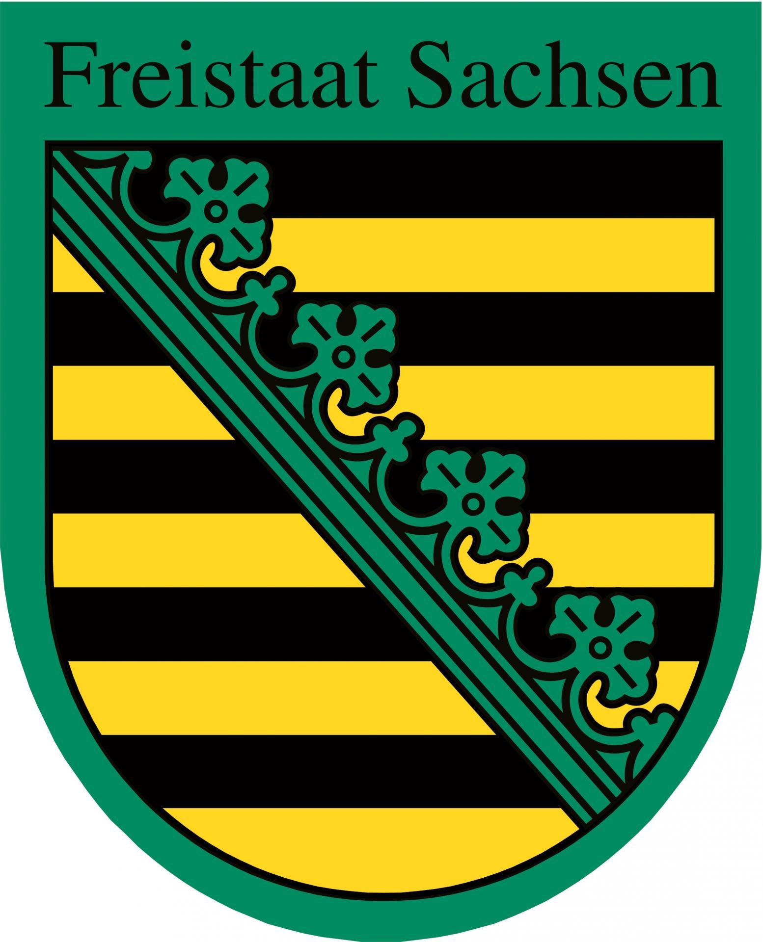 Freistaat Sachsen Wappen
