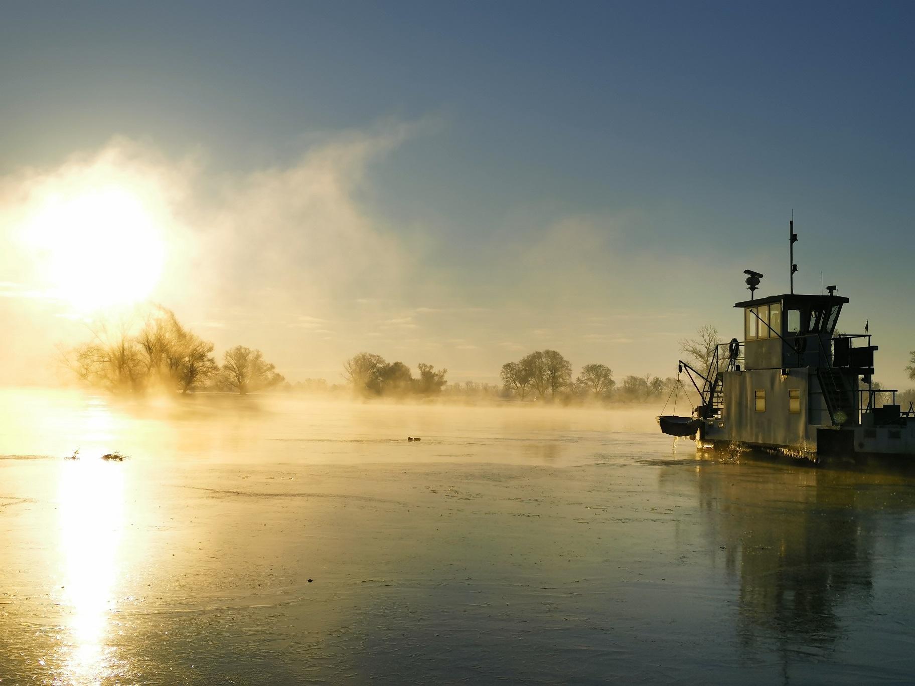 Winter an der Fähre, Foto: A. Denecke, mehr davon im Fotoalbum