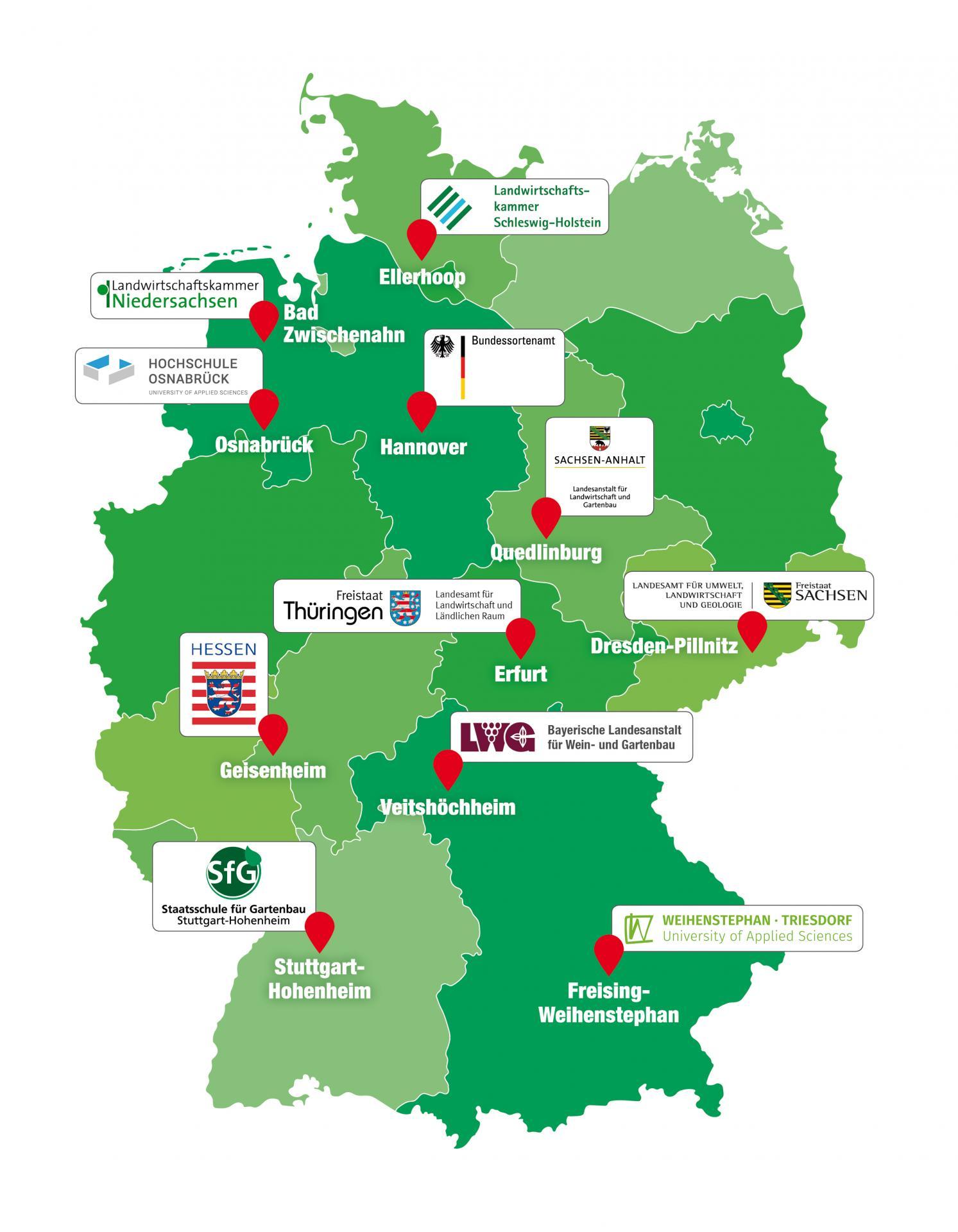 AK Bundesgehölzsichtung: In Deutschland engagieren sich elf Standorte in der Bundesgehölzsichtung