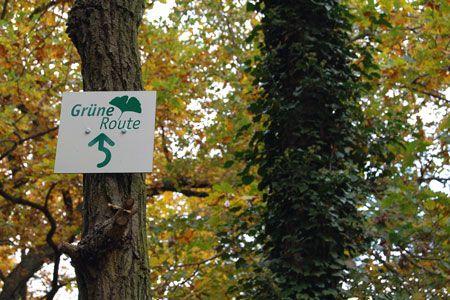 Schild - Grüne Route