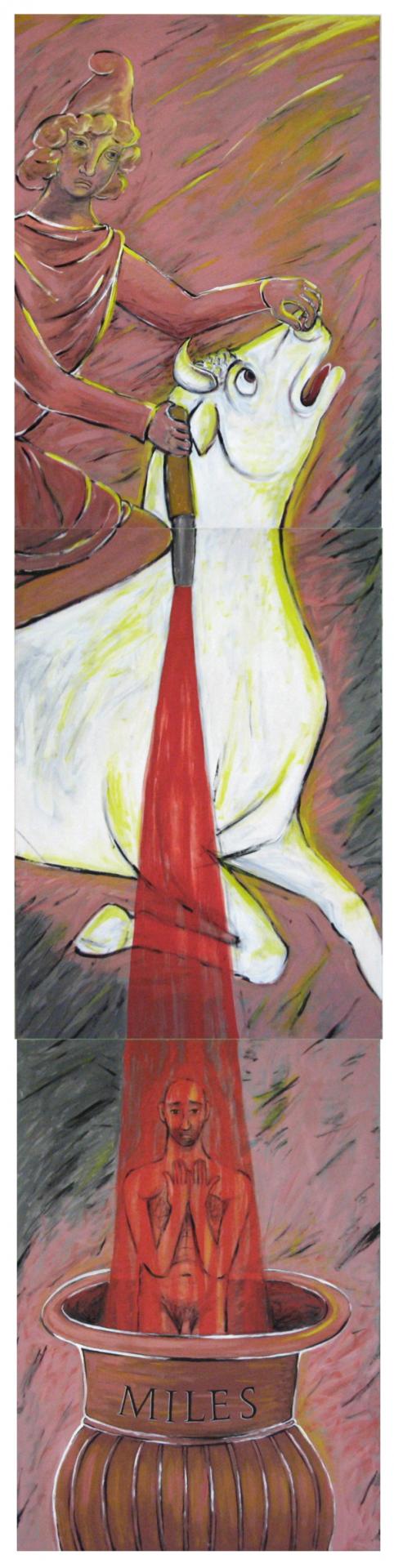 Frangis Yegane Die Stiertötung 420 x 100 cm