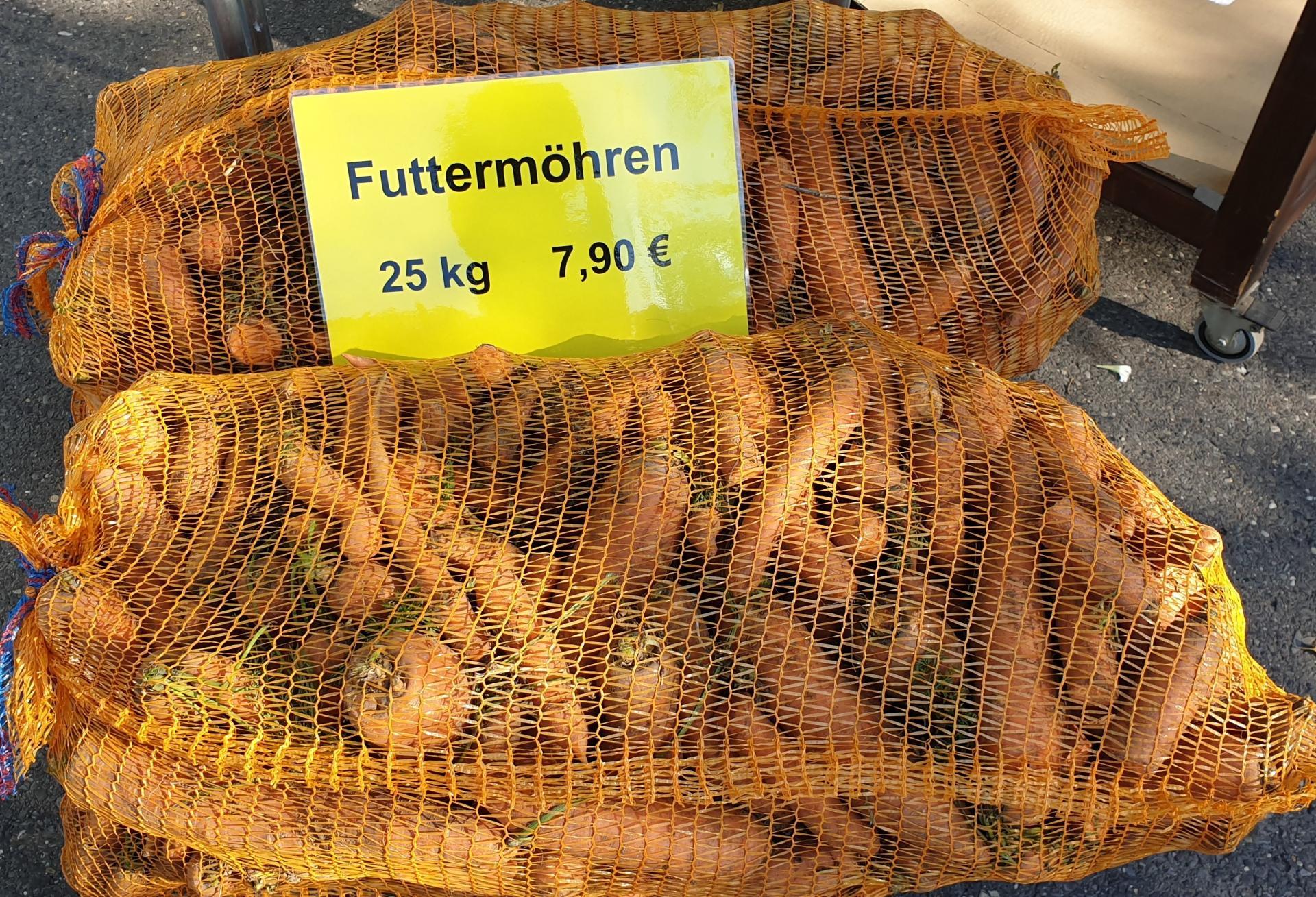 Futtermöhren im 25 kg Sack