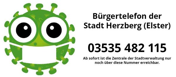 Bürgertelefon der Stadt Herzberg (Elster)