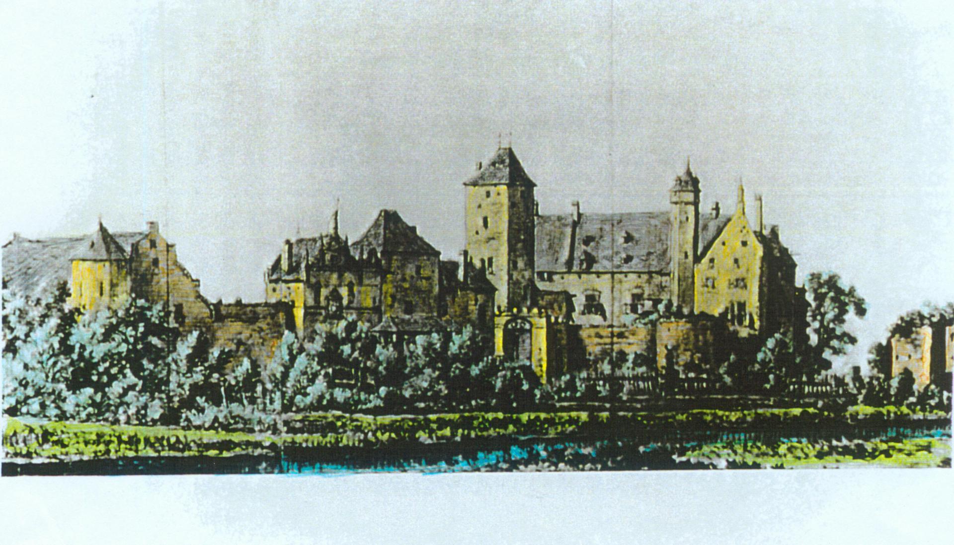 1650 Bleistift coloriert Hermann Saftleven von Südosten