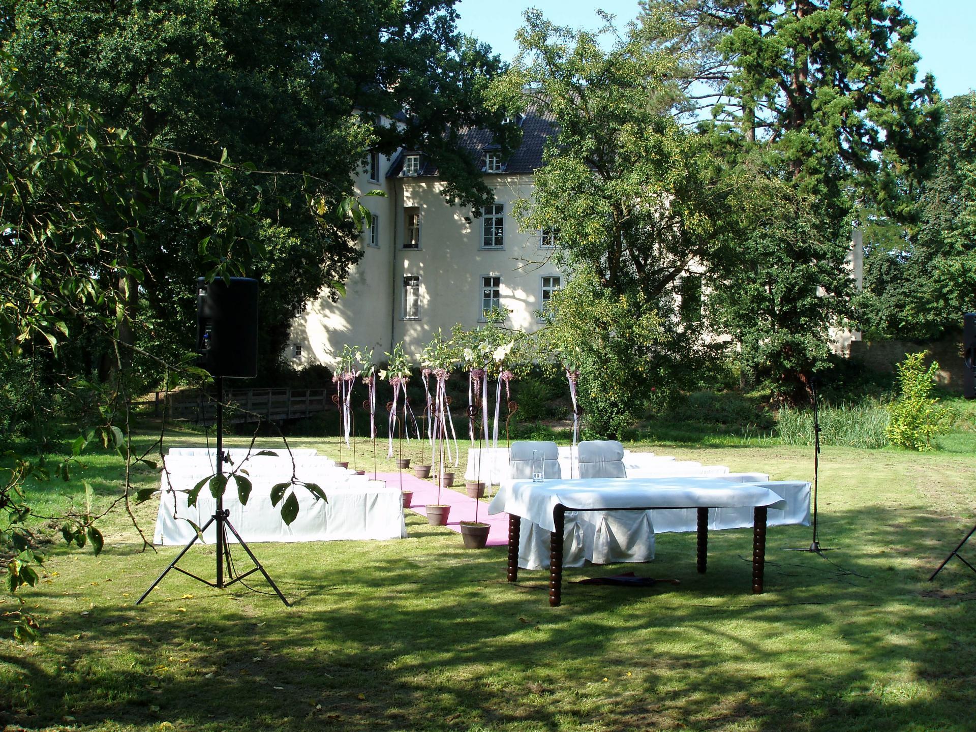Hochzeit draußen