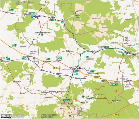 Radwege im Dahmer Land