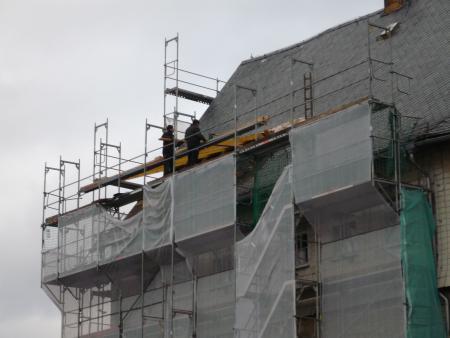 Arbeiten am Vorderbau 2. Schloss Eisfeld. 15.1.2014.jpg