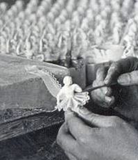Spitzefaltenlegen um 1910 in Katzhütte