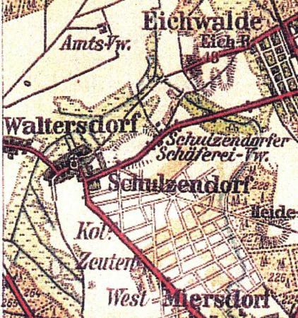Ausschnitt Karte Der Teltow
