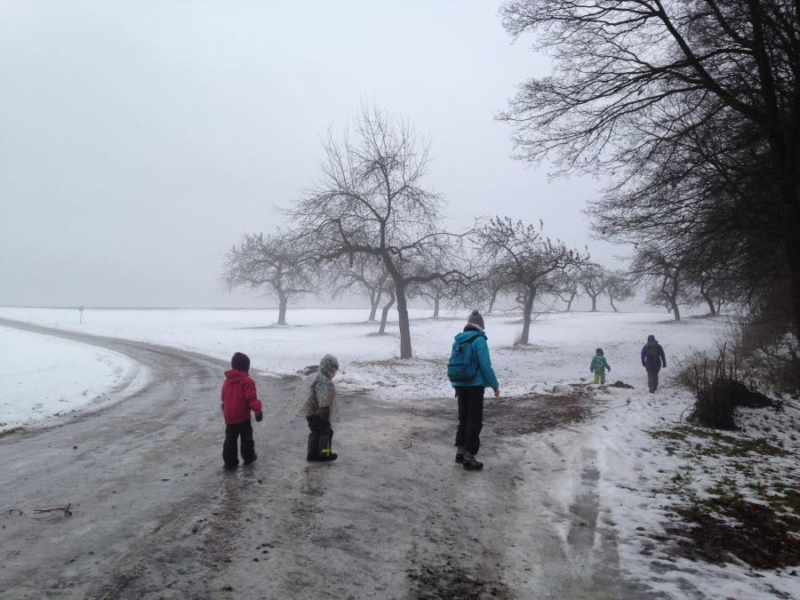 Bauwagen Schnee