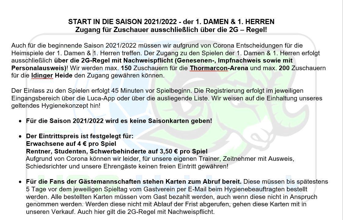 Saison Start - 2021/2022