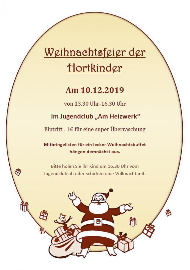 Weihnachtsfeier Hort