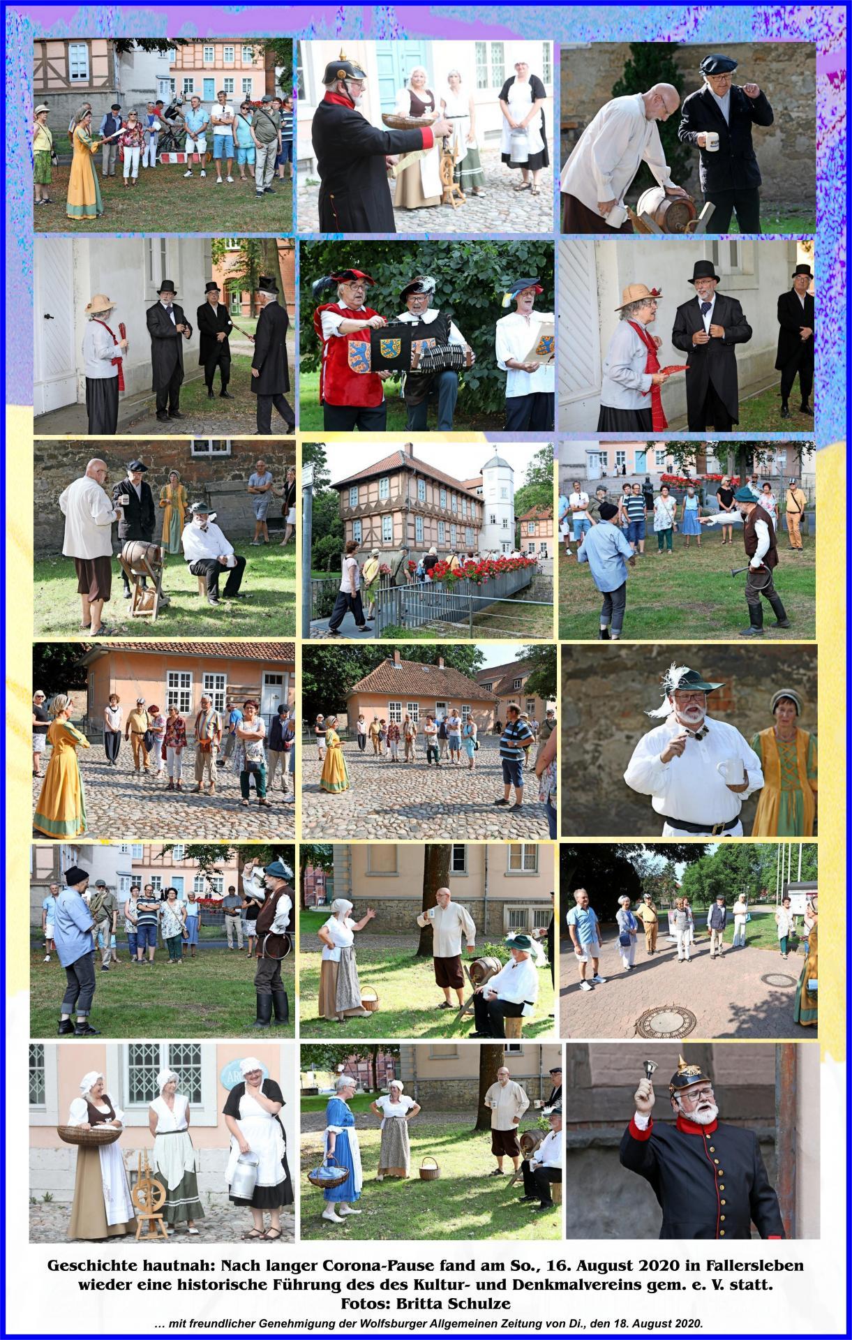 Bilder von der Fallersleber Stadtführung von Son, 16. August 2020