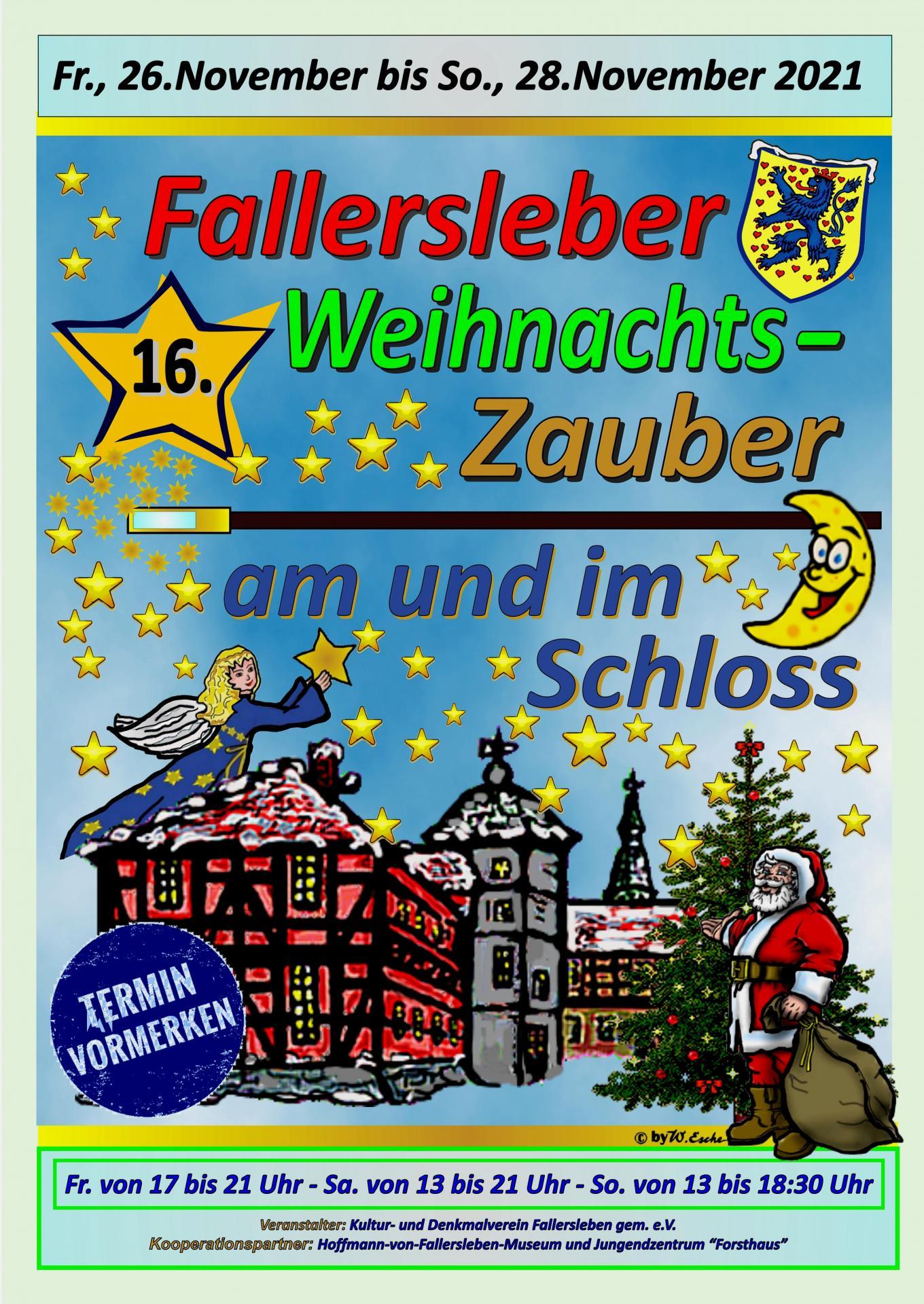 Ankündigung 16.Fallersleber Weihnachtszauber 2021