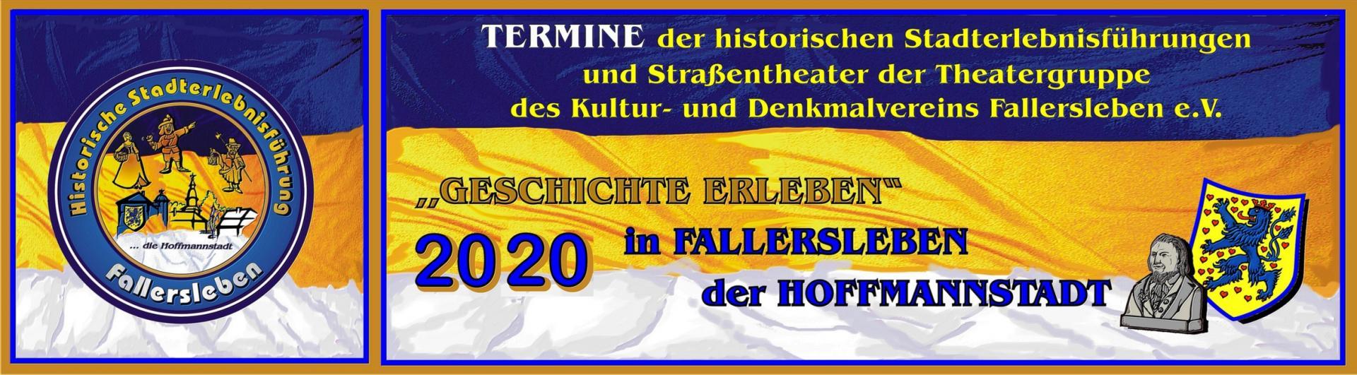 Banner Stadterlebnisführung 2020
