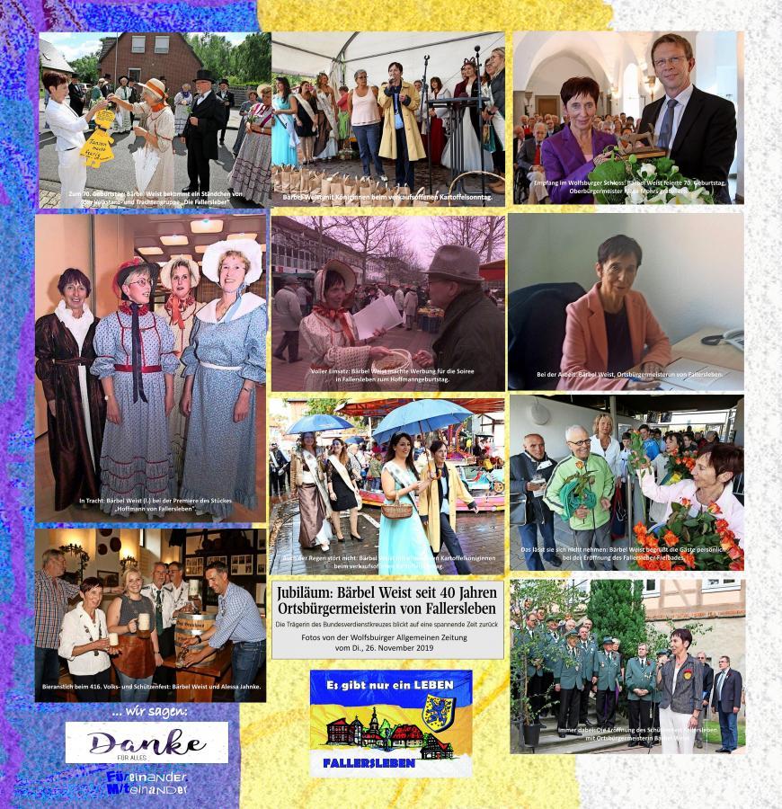 Collage 40 Jahre Bärbel Weist Ortsbürgermeisterin