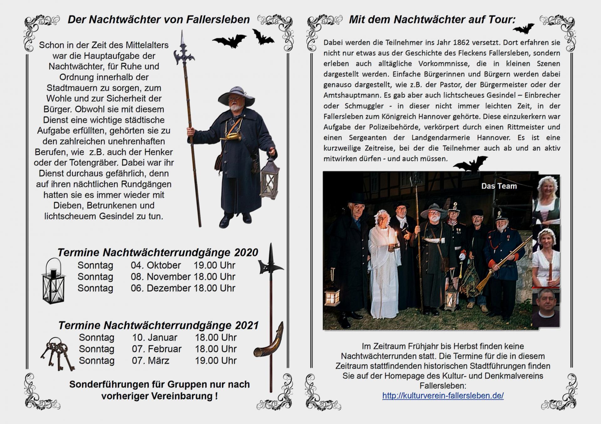 Flyer Nachtwächterrundgänge 2020/21 Seite 2