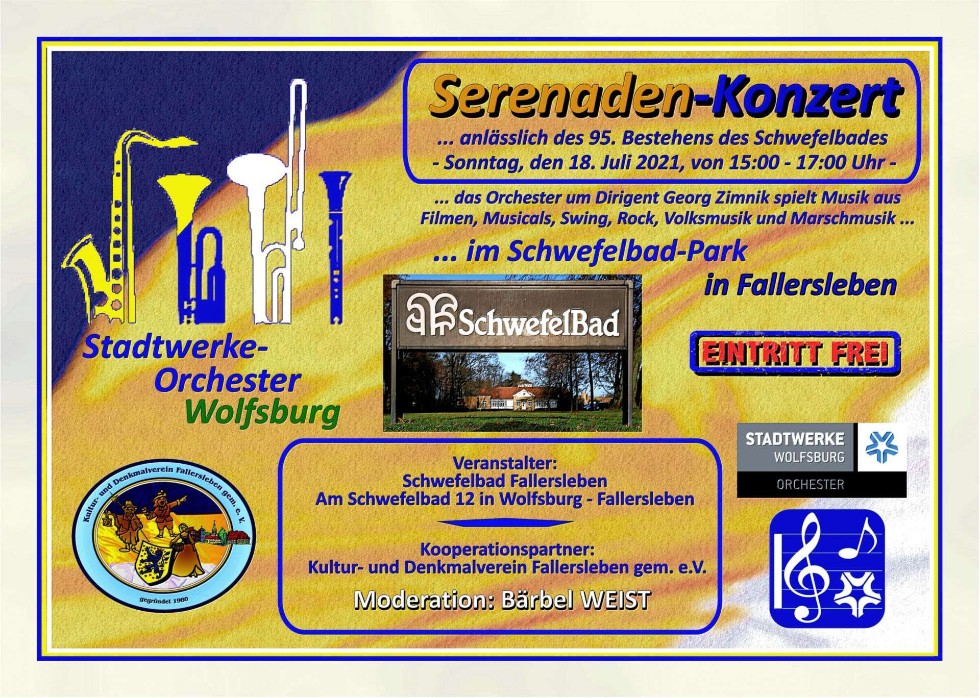Ankündigung Serenaden-Konzert 2021