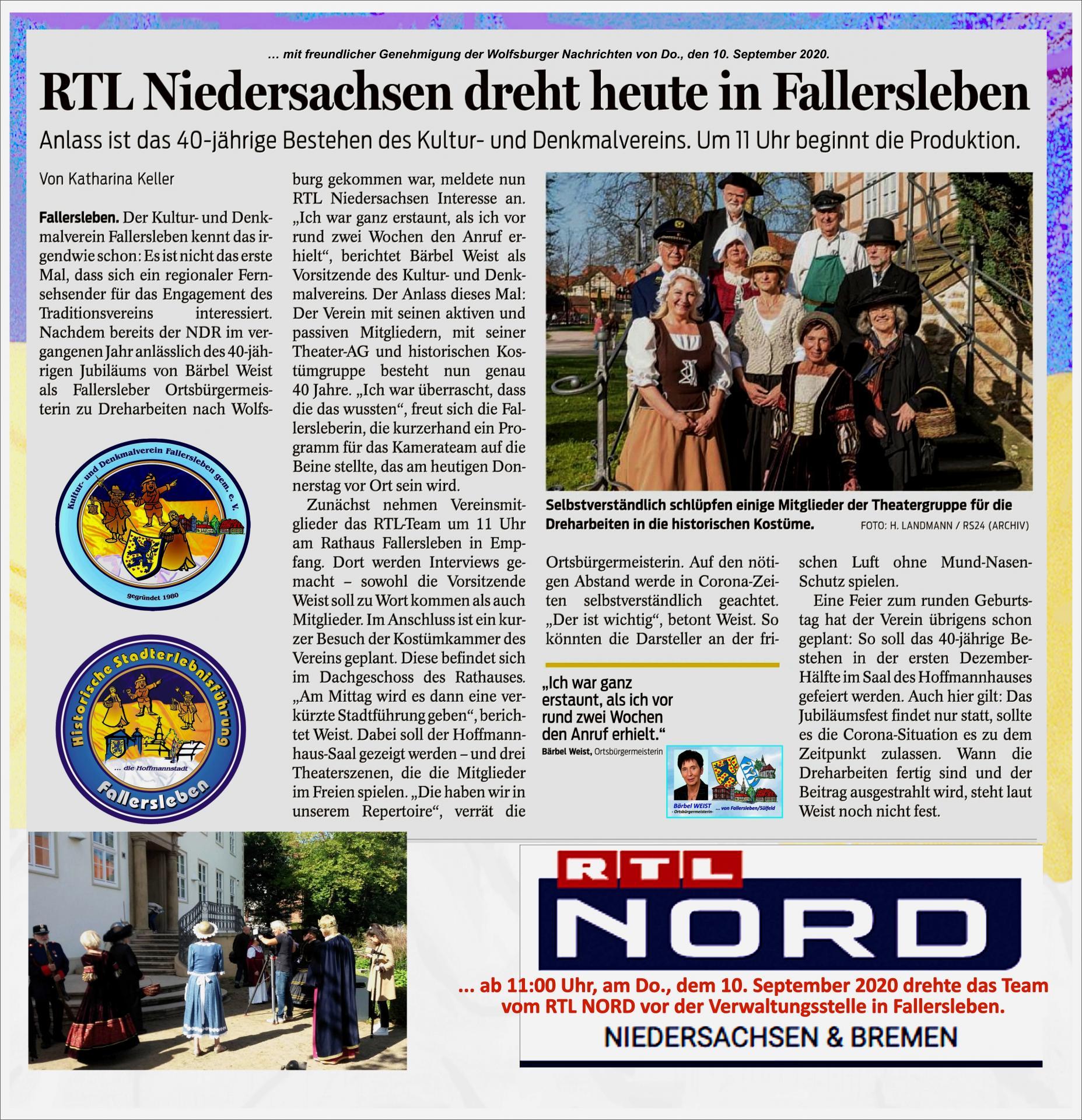RTL-Nord dreht in Fallersleben