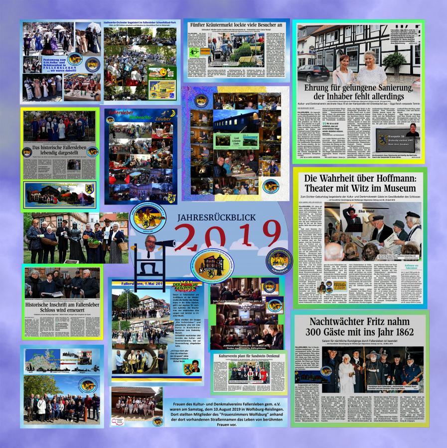 Rückblick vom Kultur- u. Denkmalverein 2019