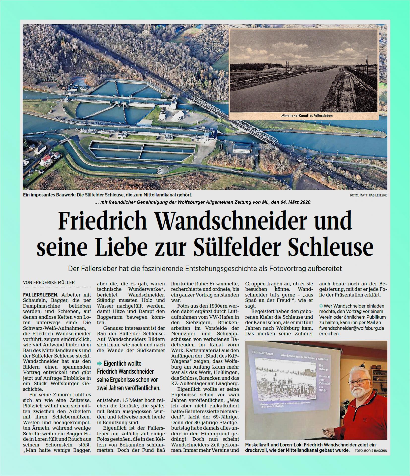Foto-Vortrag Bau des Mittellandkanals