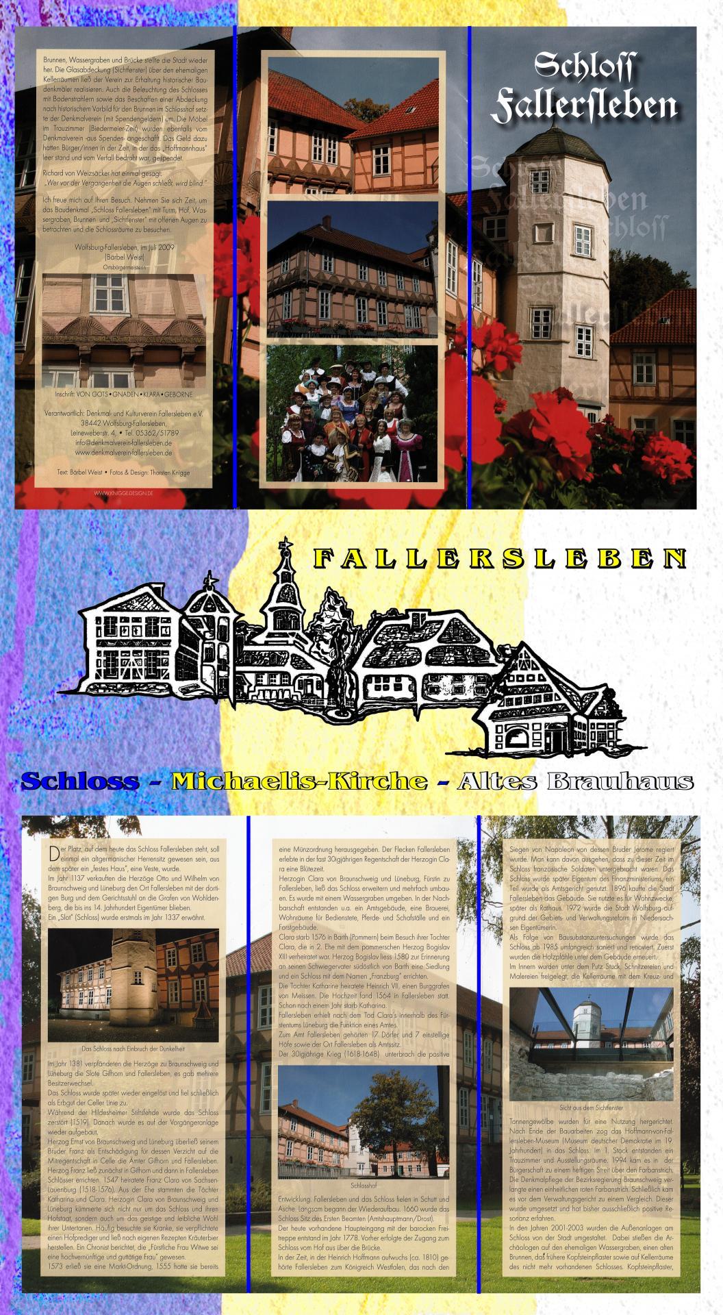 Flyer Schloss Fallersleben