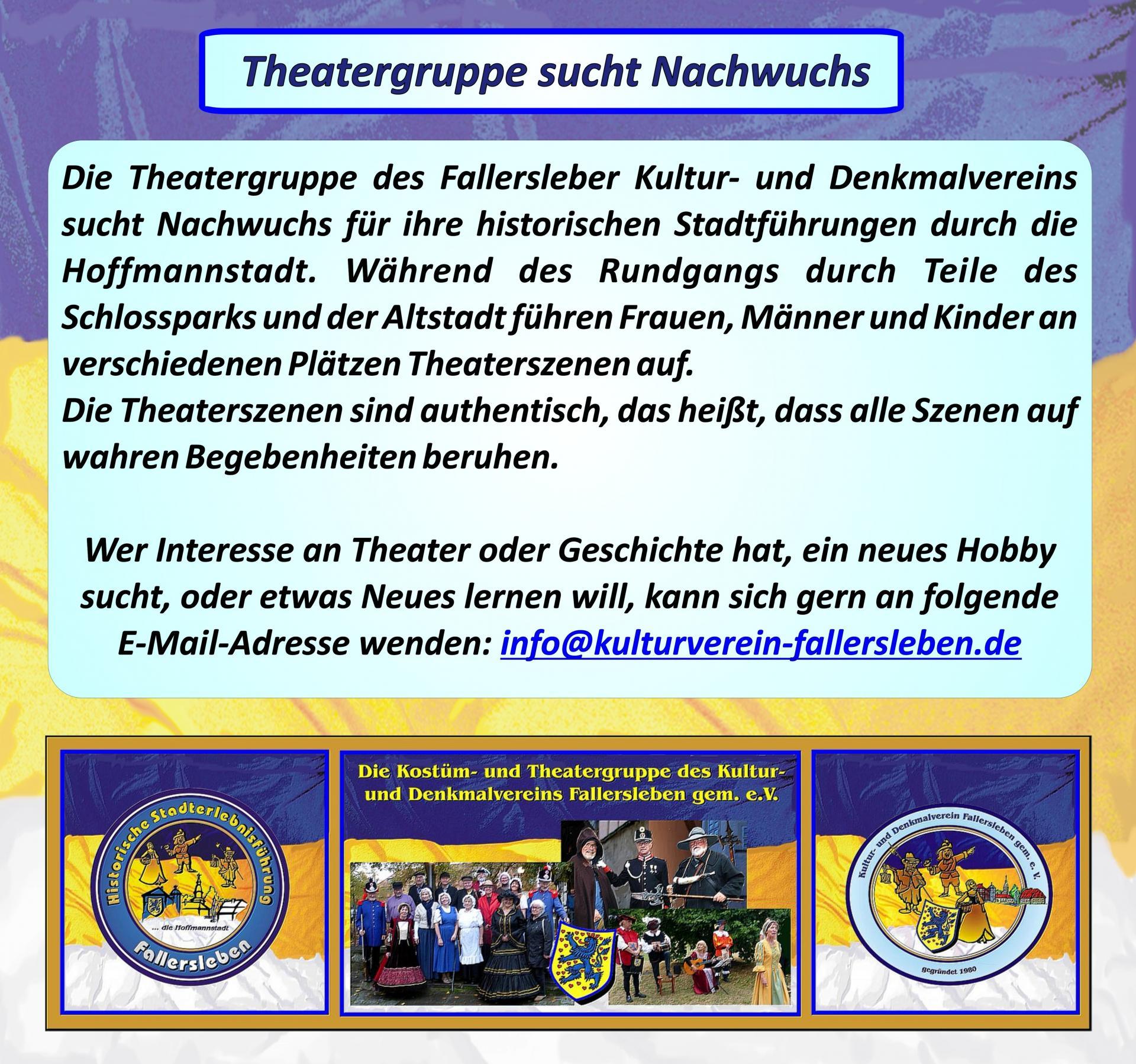 Theatergruppe sucht Nachwuchs