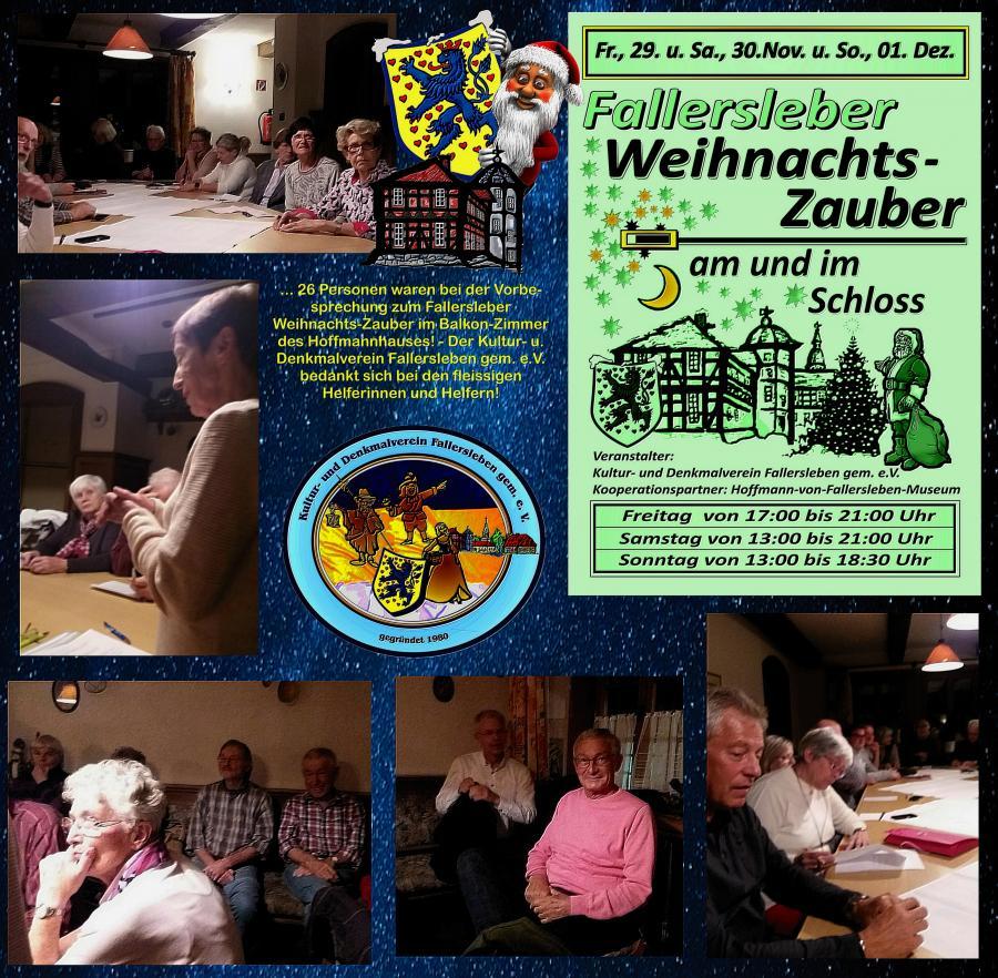 Besprechung Fallersleber Weihnachtszauber 16.10.2019