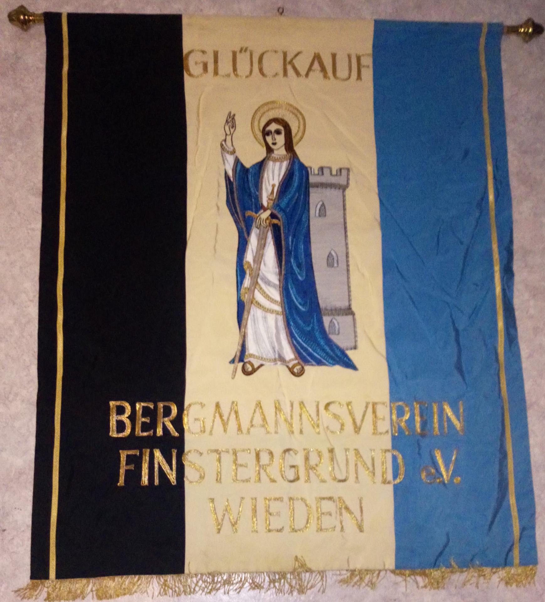 Vereinsfahne Bergmannsverein Finstergrund Wieden e.V.