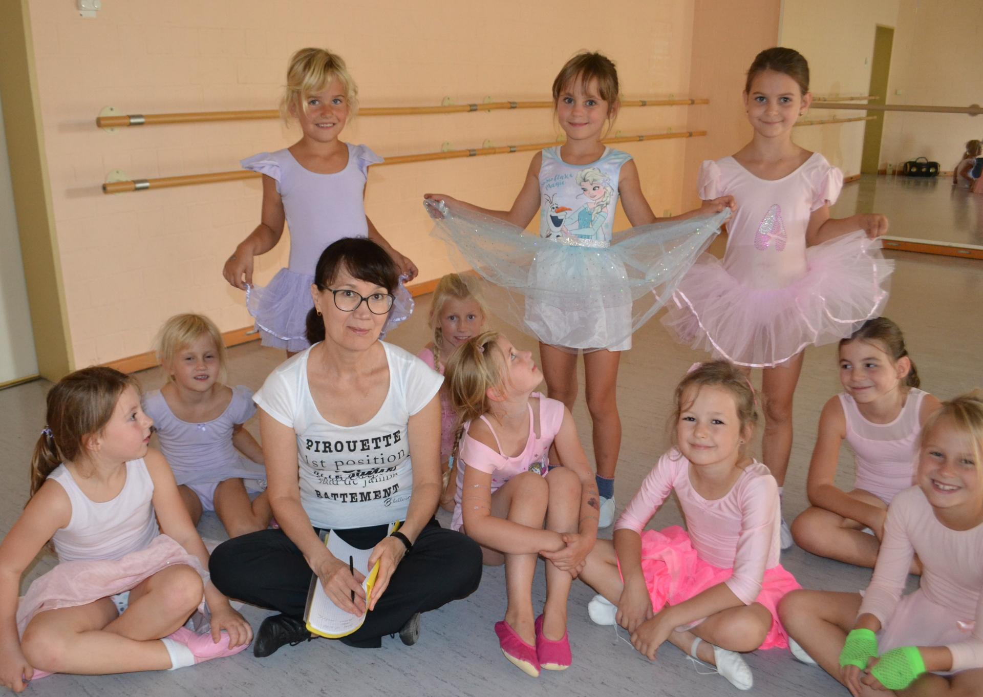 Galina Peters mit den Jüngsten