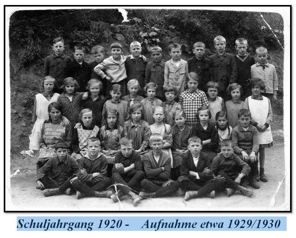1920er Schuljahr
