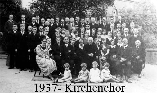 Kirchenchor 1937
