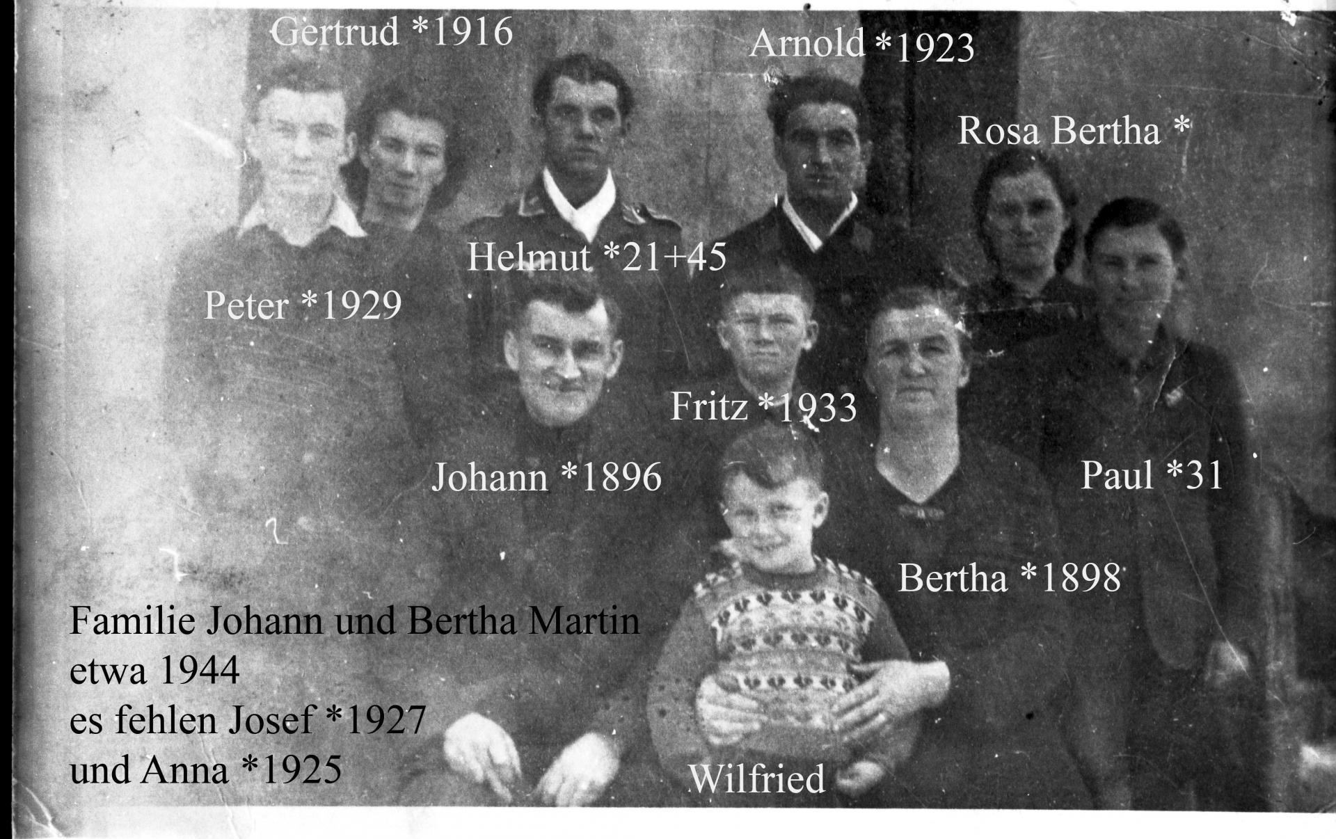 Familie Martin 1944