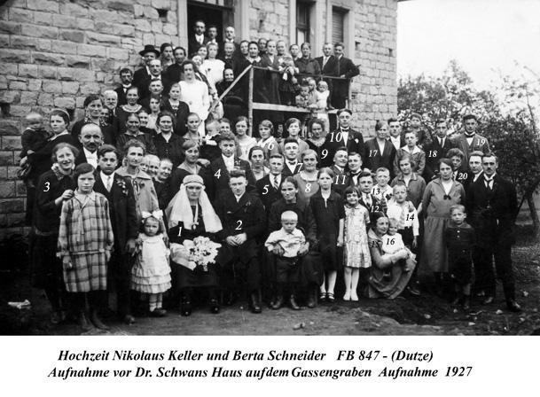 Hochzeit Keller/Schneider