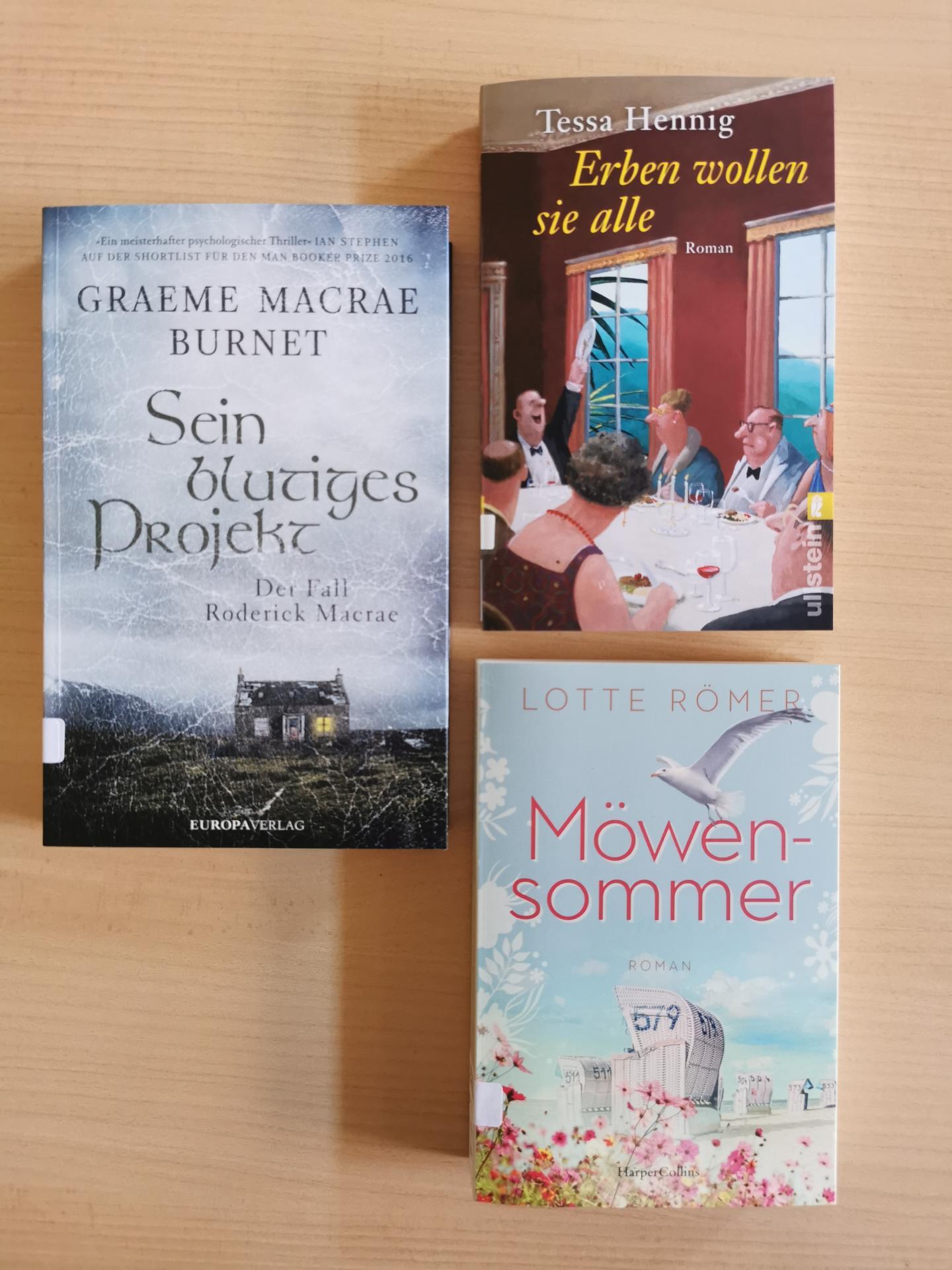 Neues im August21 Romane