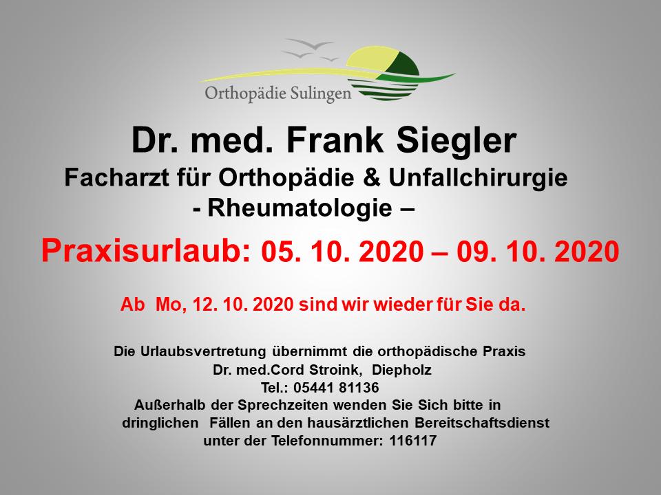 Praxisurlaub 5.-9.10.2020