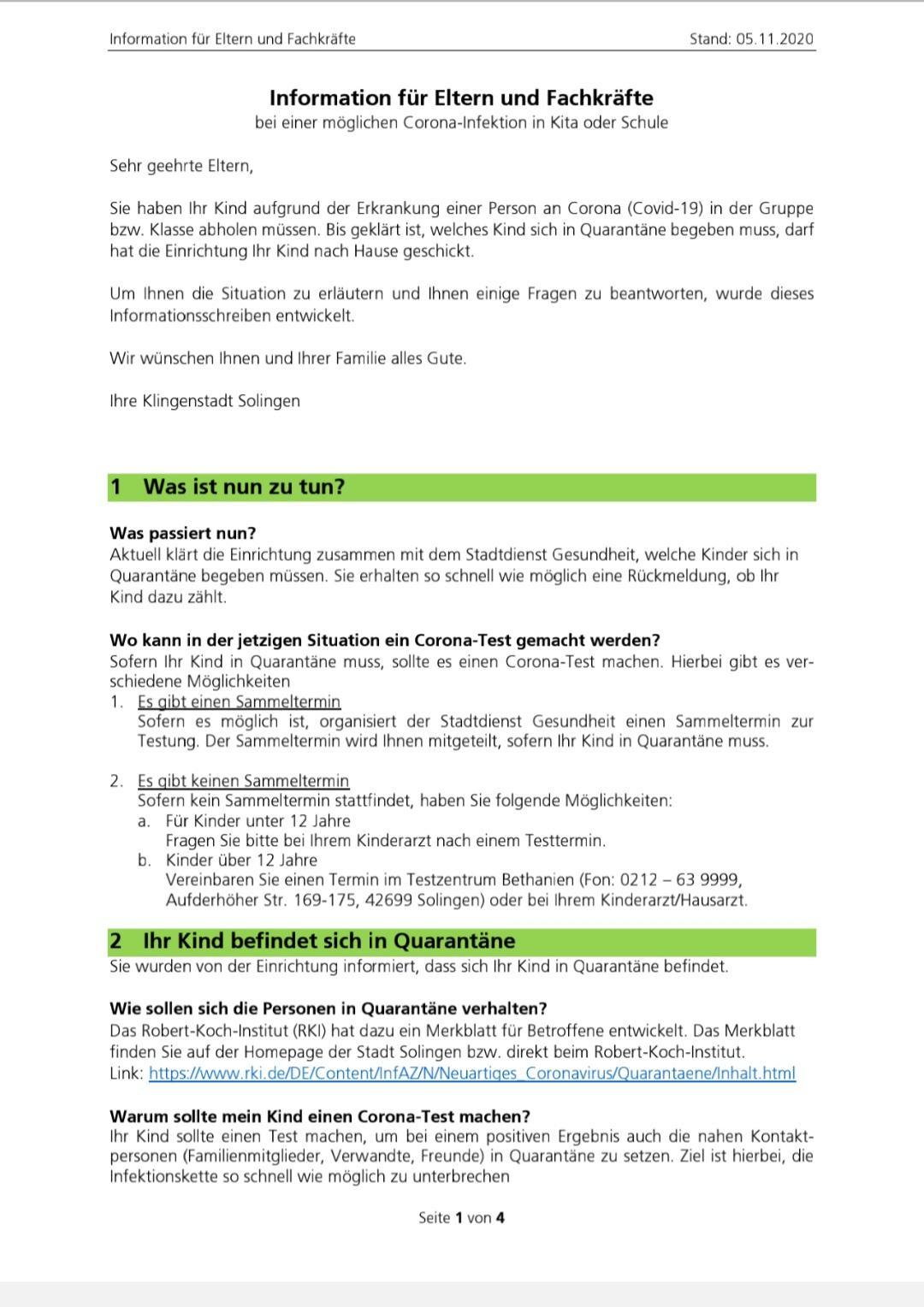 Informationen für Eltern und Fachkräfte 1