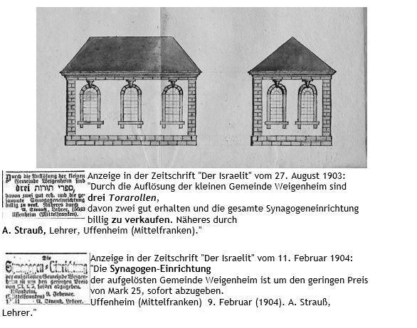 Bild Synagoge mit Text